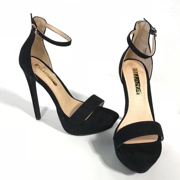 Liliana Black Platform High Heel